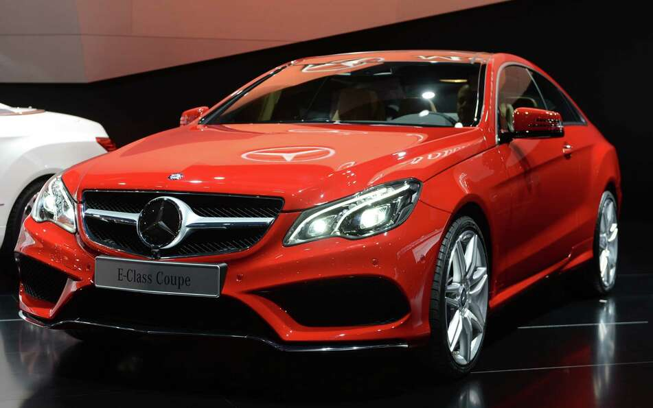 The Mercedes-benz E-class Coupe is introduced at the 2013 North American International Auto Show in