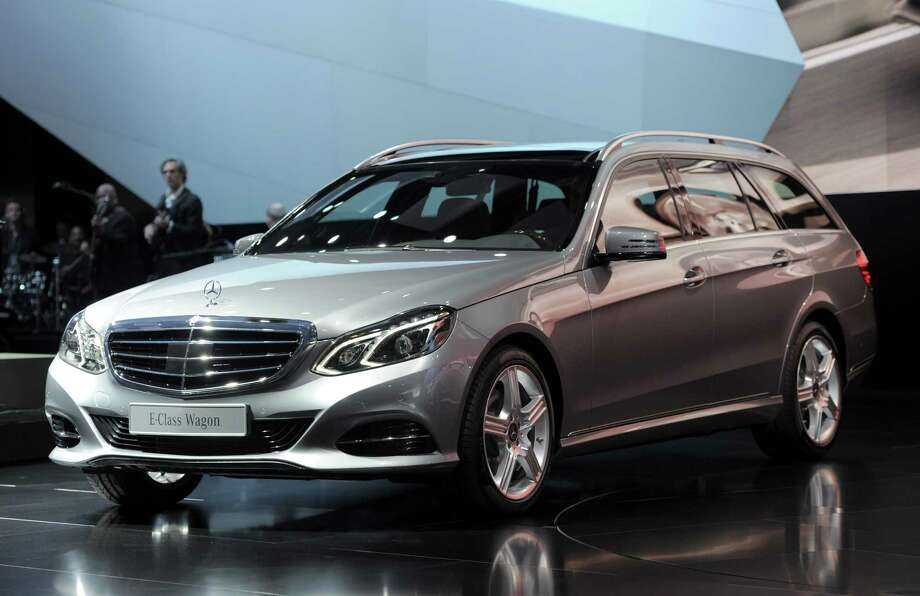 The Mercedes-Benz E-class Wagon is introduced at the 2013 North American International Auto Show in Detroit, Michigan, January 14, 2013. AFP PHOTO/Stan HONDA Photo: STAN HONDA, . / 2013 AFP