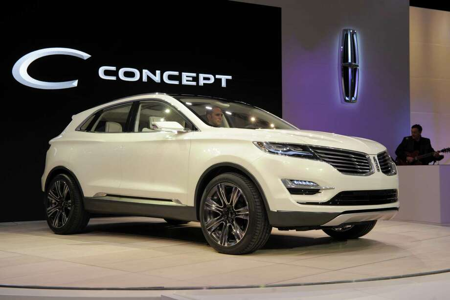 The 2014 Lincoln MKC Concept cross-over SUV is introduced at the 2013 North American International Auto Show in Detroit, Michigan, January 14, 2013. AFP PHOTO/Stan HONDA Photo: STAN HONDA, . / 2013 AFP