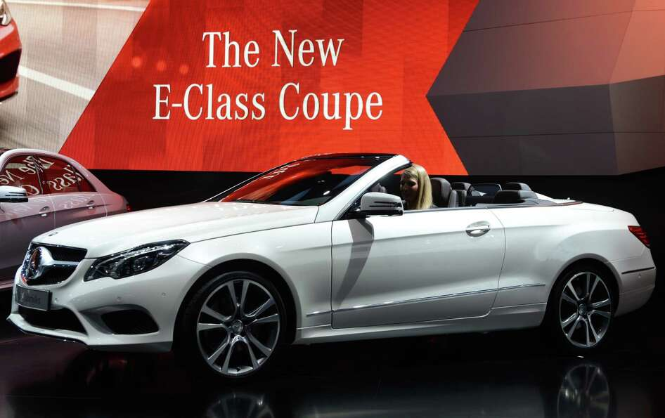 The Mercedes-Benz E-class cabriolet is introduced at the 2013 North American International Auto Show