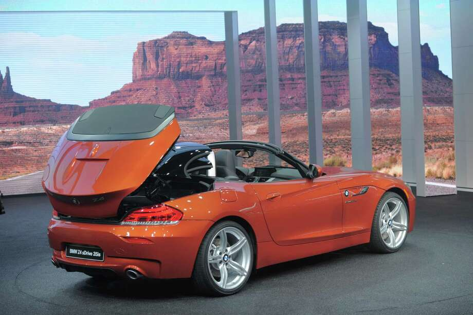 The BMW Z4 sDrive is introduced at the 2013 North American International Auto Show in Detroit, Michigan, January 14, 2013. AFP PHOTO/Stan HONDA Photo: .