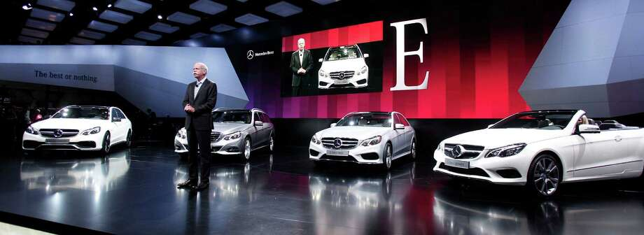 DETROIT, MI - JANUARY 14: Daimler AG Chairman and CEO Dieter Zetsche attends the world debut of the new 2014 Mercedes-Benz E63 AMG at the 2013 North American International Auto Show media preview at the Cobo Center January 14, 2013 in Detroit, Michigan. Approximately 6,000 members of the media from 68 countries are attending the show this year. The 2013 NAIAS opens to the public  January 19th. Photo: Bill Pugliano, . / 2013 Getty Images