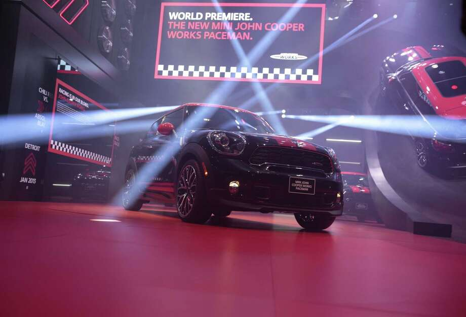 The Mini John Cooper Works Paceman is introduced at the 2013 North American International Auto Show in Detroit, Michigan, on January 14, 2013.    AFP PHOTO/Geoff Robins Photo: .