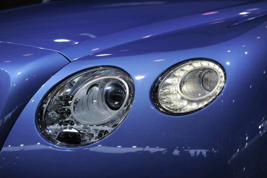 A detail of the Bentley Continental GT Speed Convertible is seen at the 2013 North American International Auto Show in Detroit, Michigan, on January 14, 2013. AFP PHOTO/Stan HONDA Photo: .