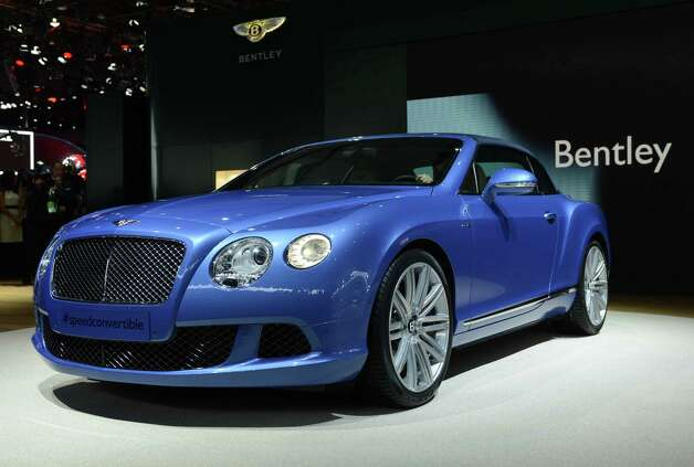 The Bentley Continental GT Speed Convertible is introduced at the 2013 North American International Auto Show in Detroit, Michigan, on January 14, 2013. AFP PHOTO/Stan HONDA Photo: .