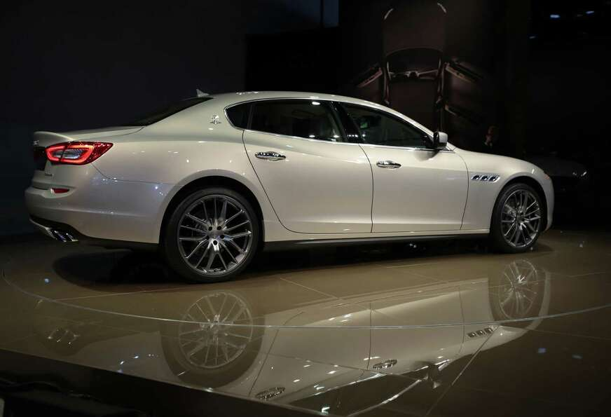 The Maserati Quattroporte is introduced at the 2013 North American International Auto Show in Detroi