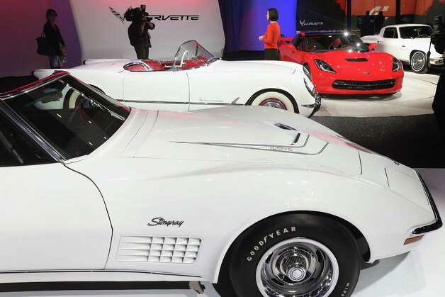 DETROIT, MI - JANUARY 14:  Several generations of  Chevrolet Corvettes are displayed during the media preview at the North American International Auto Show on January 14, 2013 in Detroit, Michigan. The auto show will be open to the public January 19-27. Photo: Scott Olson, . / 2013 Getty Images