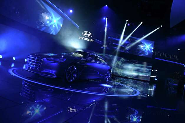 The Hyundai HCD-14 concept car is introduced at the 2013 North American International Auto Show in Detroit, Michigan, on January 14, 2013.    AFP PHOTO/Stan HONDA Photo: .