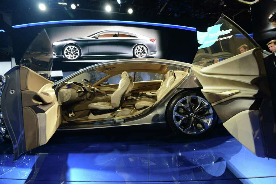 The Hyundai HCD-14 concept car is introduced at the 2013 North American International Auto Show in D