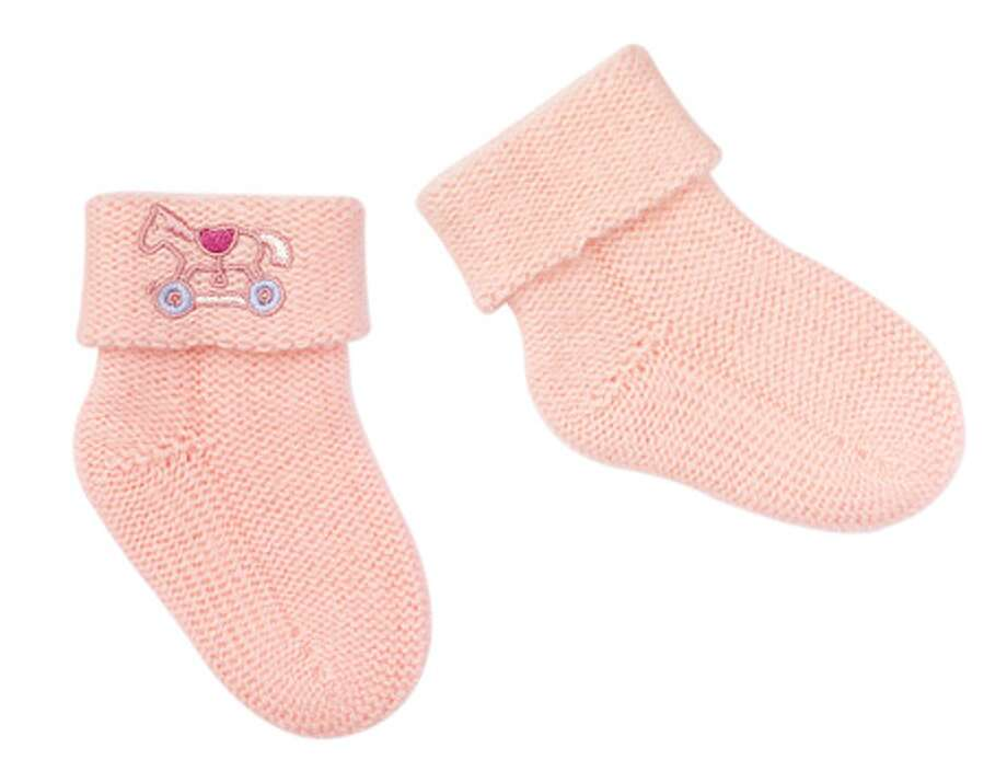 Hermes baby socks, $230. Baby's toes will be twinkling in these designer cashmere knit socks. usa.hermes.com