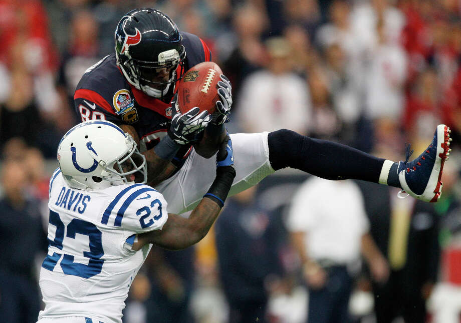 Use the draft to add a big-time threat at wide receiver to lessen the load on Andre Johnson and bolster roster depth at almost every other position. Johnson is coming off a remarkable year, but he will be in his 11th season next year. So will Kevin Walter, whose six playoff catches gained only 41 yards, and he's had just five touchdown receptions over the last two seasons. Worse, rookie DeVier Posey's likely torn Achilles tendon figures to seriously impede his development. Photo: Brett Coomer / © 2012  Houston Chronicle