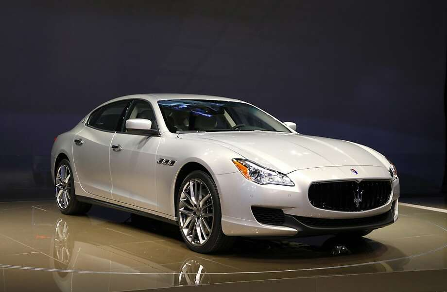 The 2014 Maserati Quattroporte debuts at media previews for the North American International Auto Show in Detroit, Monday, Jan. 14, 2013. Photo: Paul Sancya, Associated Press