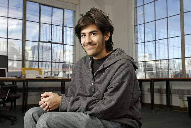 Aaron Swartz co-founded the social news website Reddit, which was later sold to Conde Nast, as a teenager. Photo: Chris Stewart, SFC