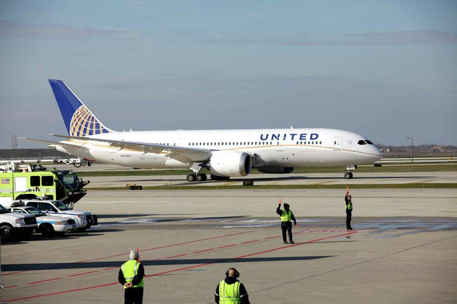 In this Sunday, Nov. 4, 2012 photo, a United Airlines 787 Dreamliner arrives at O'Hare international Airport in Chicago, from Houston. The Regional Transportation Authority says it will file a lawsuit Monday, Jan. 14, 2013, alleging that United Airlines subsidy United Aviation Fuels is falsely claiming to buy jet fuel out of a small office in a rural Illinois community to avoid paying tens of millions of dollars in taxes in Chicago, where the purchases are allegedly being made. (AP Photo/Nam Y. Huh) Photo: Nam Y. Huh