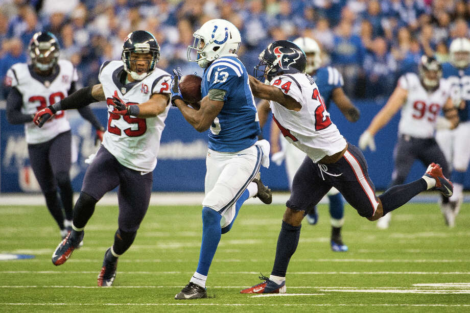 28 -Touchdowns surrendered by the Texans' defense in the 16 other games. Photo: Smiley N. Pool / © 2012  Houston Chronicle