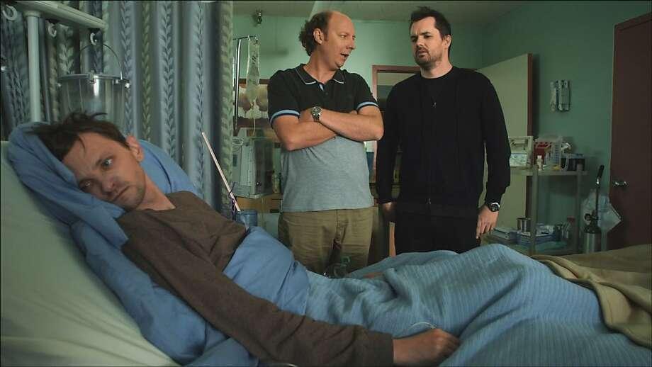 "DJ Qualls (left), Dan Bakkedahl and Jim Jefferies star in ""Legit,"" an outrageous new sitcom on FX co-created by Jefferies, an Australian comic. Photo: FX"