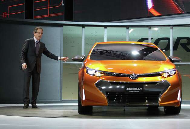 Bill Fay, Toyota's group vice president and general manager, introduces the Toyota Corolla Furia concept car at the 2013 North American International Auto Show in Detroit, Michigan, on January 14, 2013.    AFP PHOTO/Geoff RobinsGEOFF ROBINS/AFP/Getty Images Photo: GEOFF ROBINS