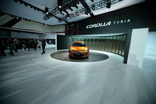 The Toyota Corolla Furia concept car is introduced at the 2013 North American International Auto Show in Detroit, Michigan, on January 14, 2013.    AFP PHOTO/Geoff RobinsGEOFF ROBINS/AFP/Getty Images Photo: GEOFF ROBINS