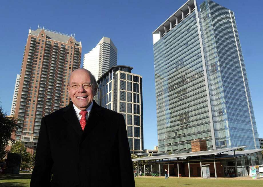 Bob Eury, the Houston Downtown Management District's executive director, says more housing will bring more retail activity downtown. A seven-story apartment complex next to Minute Maid Park and the 24-floor SkyHouse Houston are planned. Photo: Dave Rossman, Freelance / © 2012 Dave Rossman