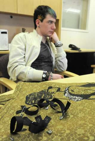 Colonie High School senior Jason Neal, 17, listens as he and others talk about organizing a tribute to the 26 people killed at Sandy Hook Elementary School in Newtown, Conn., Monday Jan. 14, 2013, at Colonie High School in Colonie, N.Y.  The high school is challenging every student to perform 26 acts of kindness over 26 days. Every time, an adult sees a student doing something good, positively influential or morally responsible, the student will receive a ribbon. (Lori Van Buren / Times Union) Photo: Lori Van Buren