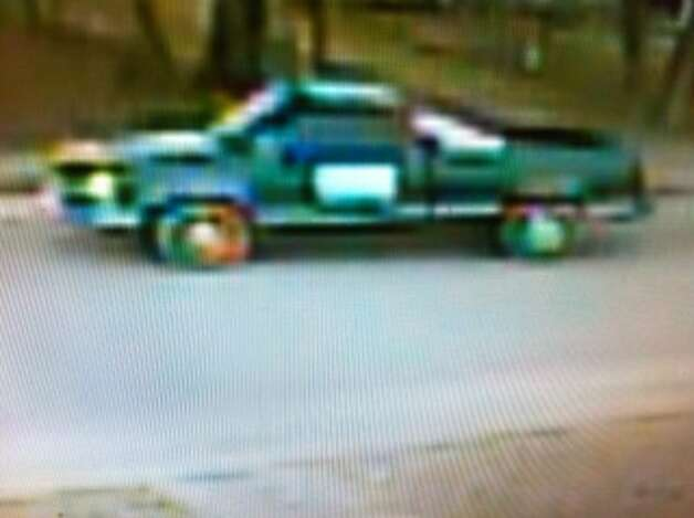 Police are looking for this truck in connection with a robbery-shooting on Jan. 14 at Alamo Auto Title in the 2100 block of Buffalo Street. Photo: SAPD