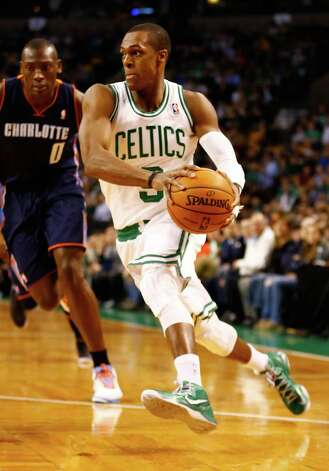 BOSTON, MA - JANUARY 14: Rajon Rondo #9 of the Boston Celtics drives to the basket against the Charlotte Bobcats during the game on January 14, 2013 at TD Garden in Boston, Massachusetts. NOTE TO USER: User expressly acknowledges and agrees that, by downloading and or using this photograph, User is consenting to the terms and conditions of the Getty Images License Agreement. (Photo by Jared Wickerham/Getty Images) Photo: Jared Wickerham