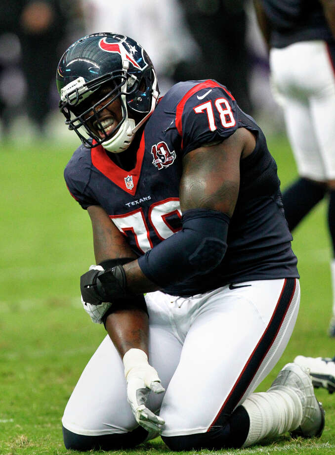 Name:Rashad ButlerAge: 29Experience: 7 yearsPosition: Offensive tackleFree-Agent Status: Unrestricted Photo: Cody Duty / © 2011 Houston Chronicle