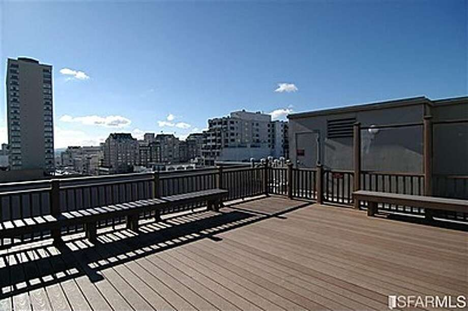 The buyer gets to share this large rooftop deck.