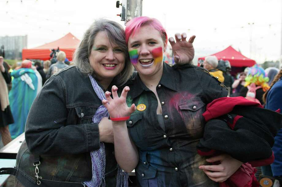 Don't mess with Gaga fans. Laura and Desi bared their claws outside of Lady Gaga's Born This Way Ball tour stop at the Tacoma Dome. Photo: CHONA KASINGER, FOR SEATTLEPI.COM / FOR SEATTLEPI.COM