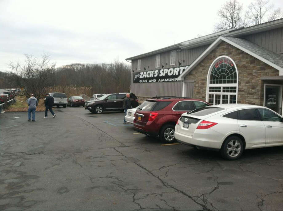 Zack's Sports Guns and Ammo was filled with customers Tuesday morning, Jan. 15, 2013, in Round Lake, N.Y. (Skip Dickstein/Times union)