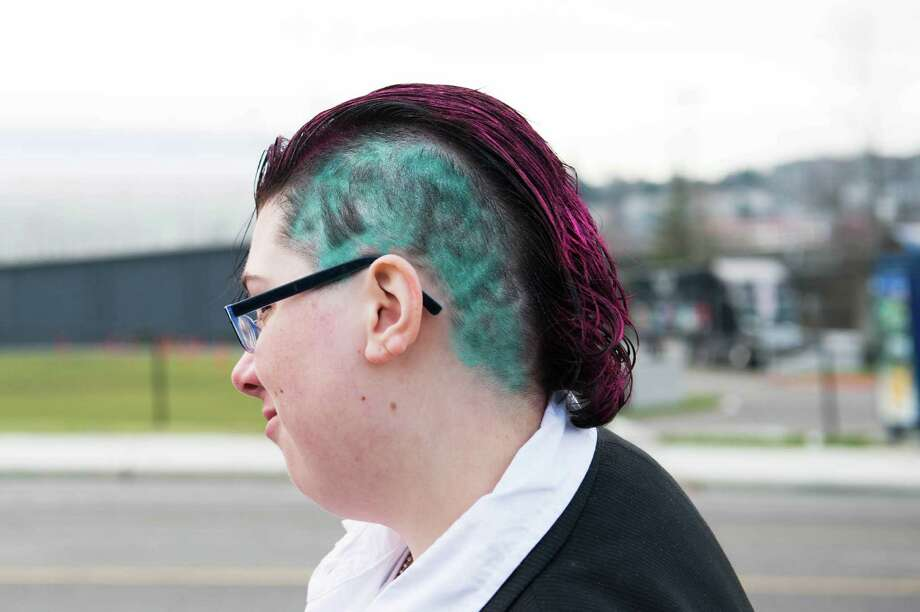 "The words ""Art Pop"" shaved on a Gaga fan's head outside of the Tacoma Dome. Photo: CHONA KASINGER, FOR SEATTLEPI.COM / FOR SEATTLEPI.COM"