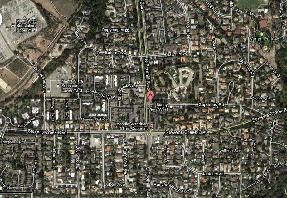 Foothill Boulevard and Cupertino Road, Cupertino, CA Photo: Google Maps