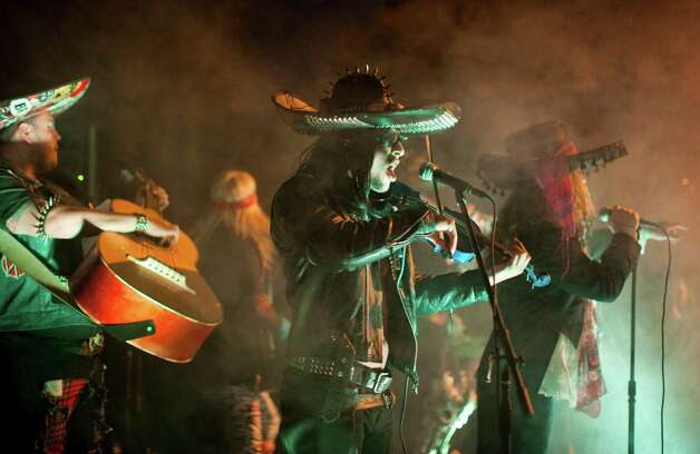The Los Angeles band Metalachi plays metal classics on traditional mariachi instruments. Photo: Colin Young-Wolff/courtesy