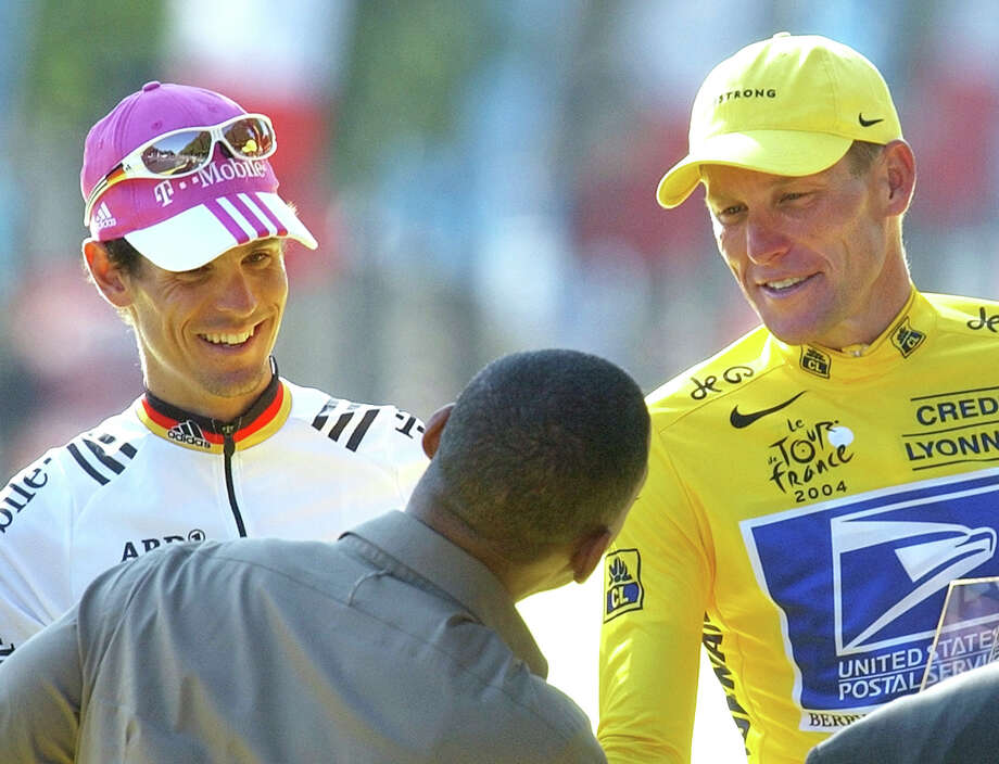 SCA Promotions – The Dallas-based company lost a case against Armstrong in 2004, and the court ordered the company to pay Armstrong $7.5 million for winning his sixth Tour. The company has hinted that it might be looking for $12 million back from Armstrong. Photo: CHRISTOPHE ENA/AP