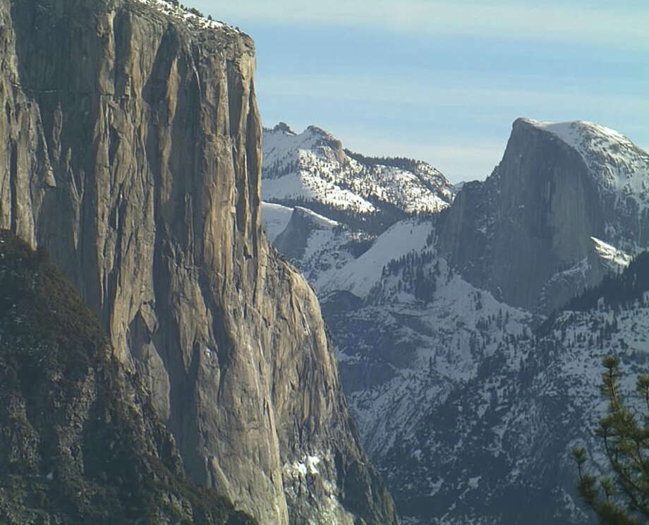 Leading edge of El Capitan, where you look east to Half Dome, Tuesday