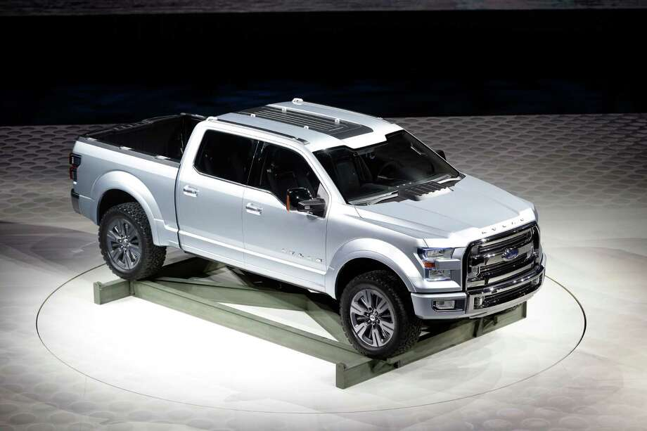 The Ford Atlas concept pickup is unveiled at the North American International Auto Show in Detroit, Tuesday, Jan. 15, 2013. Photo: Carlos Osorio
