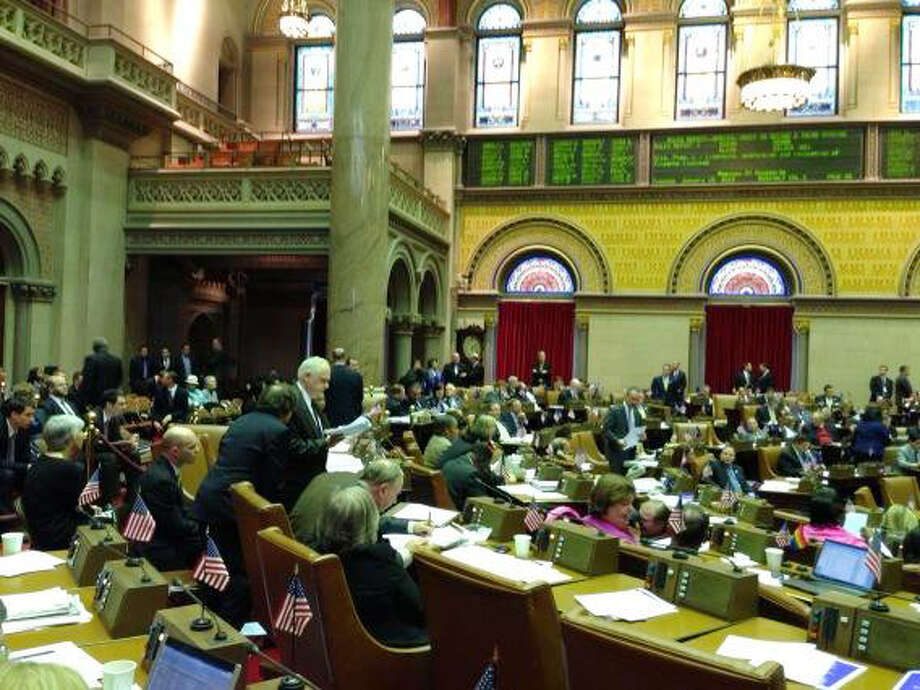 Gun legislation debate begins in the Assembly, Tuesday, Jan. 15, 2013, in Albany, N.Y. (Paul Buckowski/Times Union)