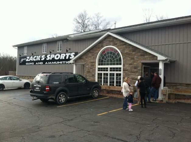 There was a line of customers at Zack's Sports Guns and AmmoTuesday morning, Jan. 15, 2013, in Round Lake, N.Y. (Skip Dickstein/Times union)
