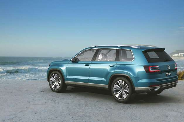 VOLKSWAGEN CROSSBLUE: Volkswagen may be getting into the midsize SUV market. It rolled out a concept SUV called the CrossBlue at the show. It would be a first in the U.S. market: a plug-in hybrid SUV with a diesel engine and two electric motors. In electric mode, it would get the equivalent of 89 miles per gallon, a measurement reached by estimating the energy it uses. In hybrid mode, it would get an estimated 35 mpg. VW will decide whether to make the vehicle in the next few months, based partly on reaction of show visitors.More photos of the Crossblue concept Photo: Volkswagen / Volkswagen