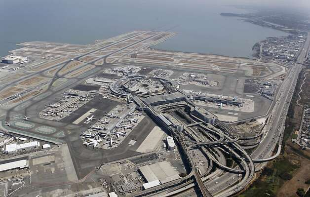 S.F. INTERNATIONAL  Low-lying airports are especially vulnerable as coastal waters are predicted to rise 3 to 4 feet. Photo: Paul Chinn, The Chronicle