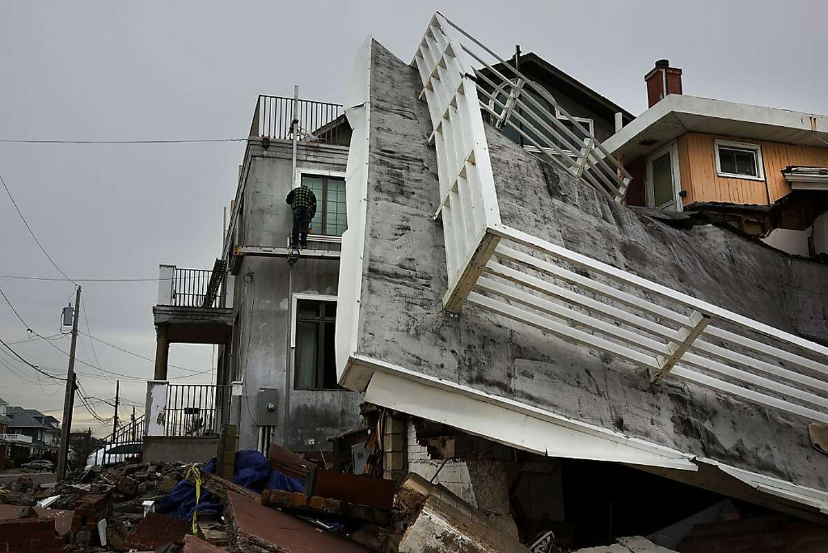 NEW YORK, NY - JANUARY 15: A home damaged by Hurricane Sandy is viewed along the beach in the Rockaways on January 15, 2013 in the queens borough of New York City. A $50.7 billion Superstorm Sandy aid package is expected to be voted on today in the House. The package, which has come under criticism by some fiscal conservatives, is being heavily pushed by Northeastern lawmakers. The money would be spent on immediate needs to the region including $5.4 billion for New York and New Jersey transit systems and $5.4 billion for the Federal Emergency Management Agency's disaster relief aid fund. (Photo by Spencer Platt/Getty Images)
