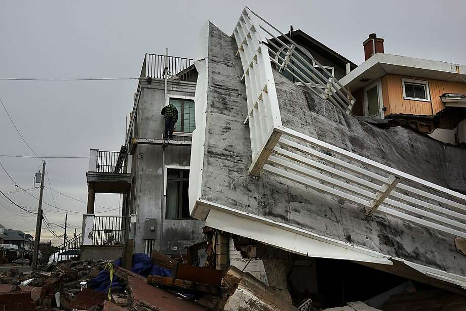 ROCKAWAYS, N.Y. The destruction wreaked by Superstorm Sandy may become more common as weather worsens. Photo: Spencer Platt, Getty Images