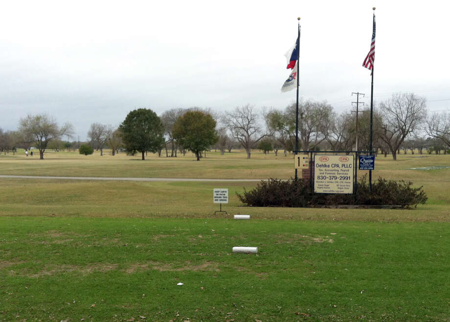The course at Starcke Park Golf Club in Seguin is dotted with trees, many of them pecan. Photo: LeAnna Kosub, San Antonio Express-News