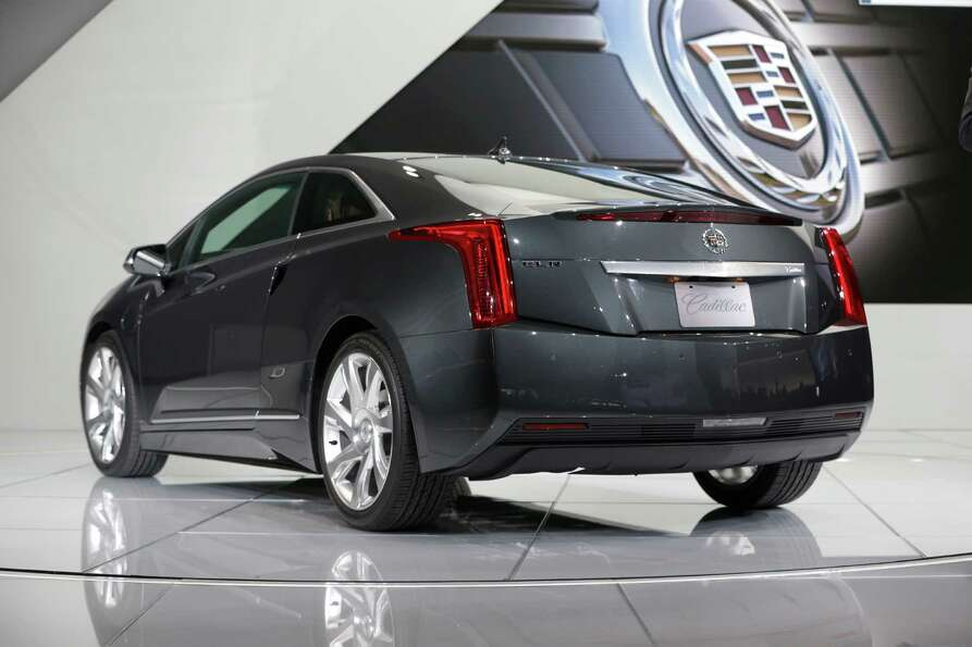 The Cadillac ELR is unveiled during the North American International Auto Show in Detroit, Tuesday,