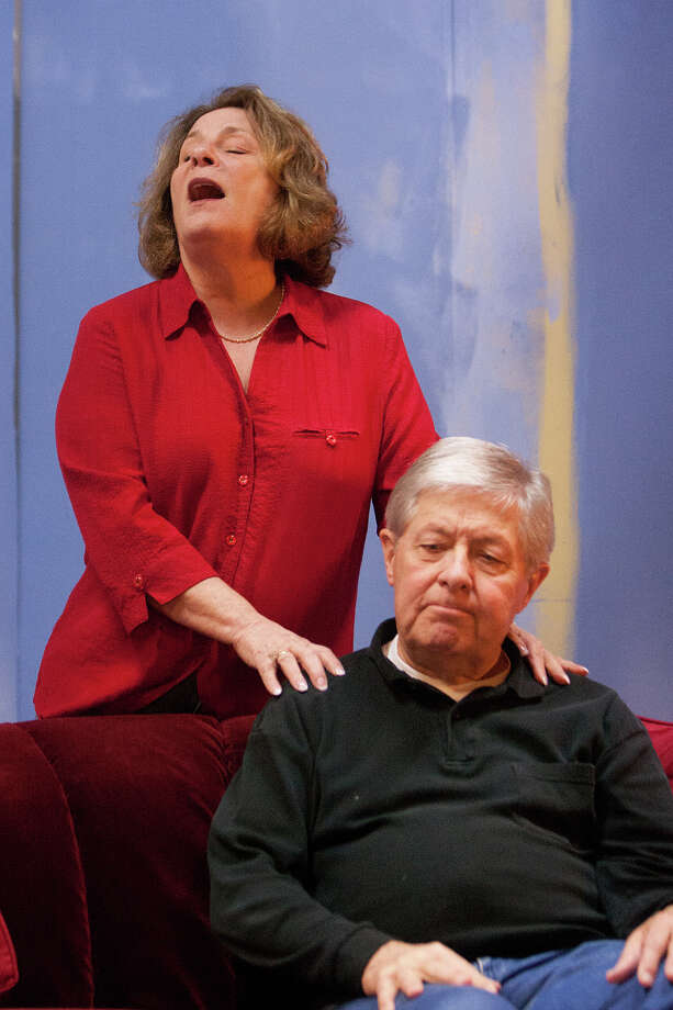 """Jo Ann Levine and Jim Stanley rehearse for """"Young Man from Atlanta""""  at Company Onstage. Photo: R. Clayton McKee, Freelance / © R. Clayton McKee"""