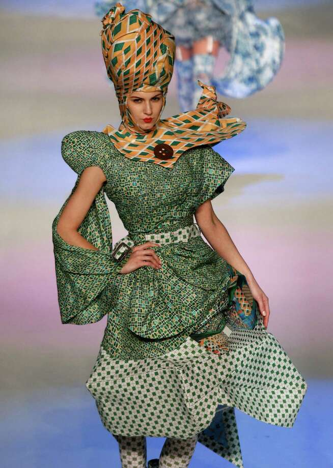 Hong Kong Fashion Week is going on now, and we just can't ignore the  weirdness that's being sent forth into the world. Here are a few of  the strangest designs, along with a few examples from previous years:This outfit is trying everything it can think of to escape from the model. A model presents a creation by Hong Kong designer Lin Po Chun during the Young Designers Contest during the Hong Kong Fashion Week in Hong Kong, Tuesday, Jan. 15. Photo: Vincent Yu, Associated Press / AP