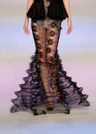 Another squid-like outfit, because there are so many ways to make your appendages look like tentacles.A model presents a creation by Hong Kong designer Law Hau Sin during the Young Designers Contest during the Hong Kong Fashion Week in Hong Kong, Tuesday, Jan. 15. Photo: Vincent Yu, Associated Press / AP