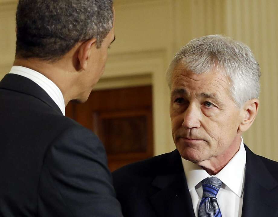 Chuck Hagel, President Obama's nominee to head the Pentagon, has drawn fire over Iraq and Israel. Photo: Pablo Martinez Monsivais, Associated Press