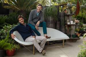 Aaron Jones and David Covell unveiled the Hearth heated outdoor lounge in November at Flora Grubb Gardens in San Francisco.