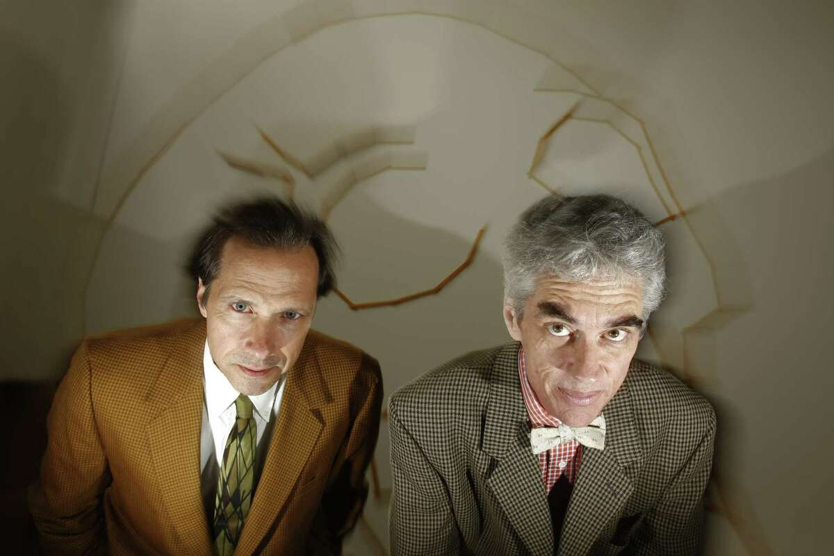 The Art Guys, Jack Massing, from left, and Michael Galbreth, in 2008, when their concept
